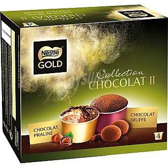 Gold Nestlé Tarrinas de chocolate pralín y trufa Collection Chocolat II estuche 400 ml 4 unidades