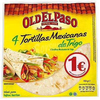 Old El Paso tortillas mejicanas de trigo  4 unidades ( 268 g)
