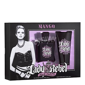 Mango Estuche Colonia Lady Rebel Rock Deluxe 100 ml + body 100 ml 1 ud