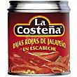 Rajas rojas de jalapeño Lata 121 g La Costeña