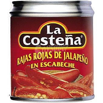 La Costeña Rajas rojas de jalapeño Lata 121 g