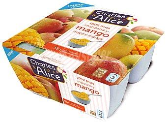 Charles & Alice Compota de Manzana con Mango Charles & Alice (4x100g) 400 gr