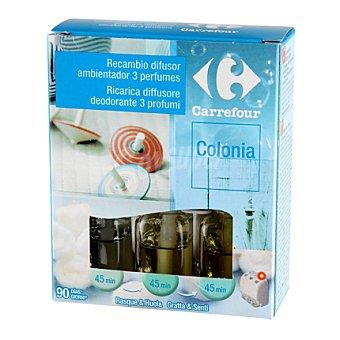 Carrefour Recambio eléctrico 3fragancias colonia 3 ud