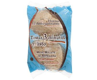 El antequerano Mollete de antequera con salvado 280 g (4 uds)
