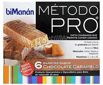 Bimanan Barritas de sabor chocolate caramelo 162 g