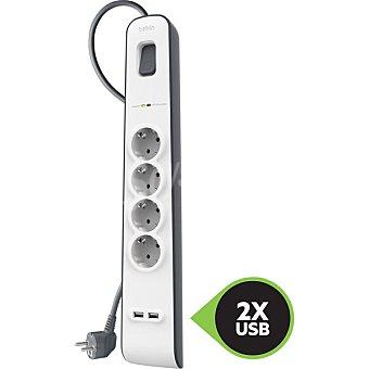 Belkin Regleta 4 tomas protección + 2 USB Belkin