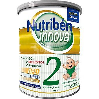 Nutribén Innova 2 leche de continuación a partir del 6º mes sin aceite de Palma Lata 800 g