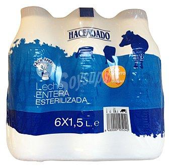 Hacendado Leche entera esterilizada Botella pack 6 x 1,5 l - 9 l