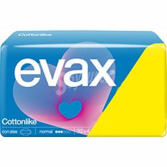 Evax Compresa normal con alas Paquete 32+4 unid