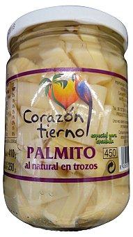 Corazon Tierno Palmitos al natural trozos conserva Tarro 410 g escurrido