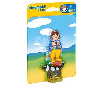 Playmobil Conjunto de juego Mujer con perro, 1.2.3 6977 playmobil 123 6977
