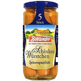 Bocklunder Salchichas con jamón frasco 250 g neto escurrido