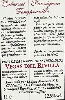 Vegas del Rivilla Vino Tinto Brik 1 Litro