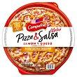 Pizza de jamón y queso con salsa de queso Cheddar 360 g Campofrío