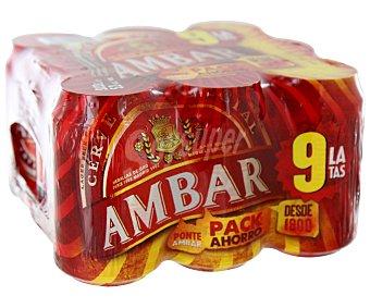 AMBAR ESPECIAL Cervezas para celiacos ambar pack de 12 latas de 33 centilítros Pack de 12 latas