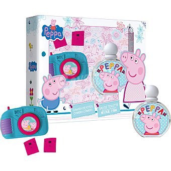 PEPPA PIG eau de toilette natural infantil + cámara de fotos spray 50 ml