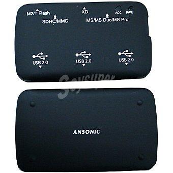 Ansonic Lector de tarjetas con 3 puertos USB
