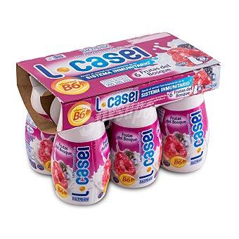 Hacendado Yogur liquido L casei frutas del bosque  6 unidades de 100 g