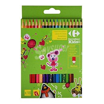 Carrefour Surtido 18 lápices colores 1 ud