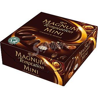 Magnum Frigo Mini caramelo y almendras Temptation estuche 300 ml 6 unidades