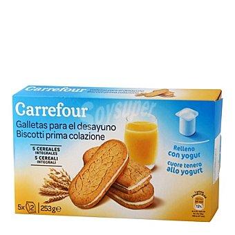 Carrefour Galletas para el desayuno yogurt 253 g