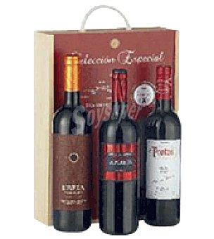 Robles Estuche madera con 3 botellas de vino Selección D.O. Ribera del Duero 75 cl