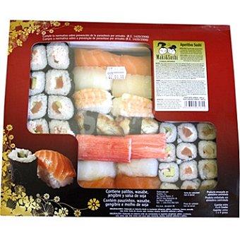 MAKI & SUSHI Aperitivos sushi variados bandeja 36 unidades (contiene palillos, wasabe, jengibre y salsa de soja) Bandeja 36 unidades