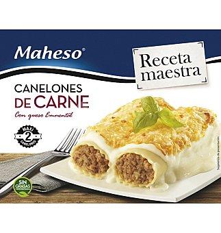Maheso Canelones de carne con queso emmental  envase 300 g