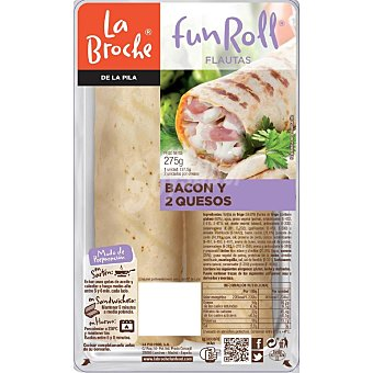 La Broche Flautas de bacon y queso 275 gr