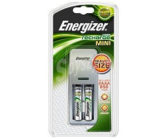 Energizer Cargador Mini + 2 pilas AAA 850 mah 1 Unidad