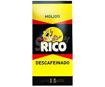 Rico Café molido descafeinado natural 250 gramos
