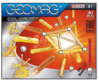 GEOMAG Juego Magnético de Construcción Geomag 30 Piezas 1 Unidad