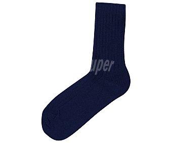 CUP´S Pack de 3 pares de calcetines antibacterias para niño, color azul marino, talla 39/42 Pack de 3
