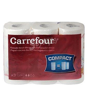 Carrefour Papel de cocina Maxi roll Décor 3 rollos