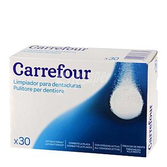 Carrefour Pastillas efervescentes para limpiar dentaduras 30 ud