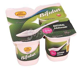 Postres Reina Bífidus desnatado (0% materia grasa) y con sabor natural edulcorado 4 x 125 g