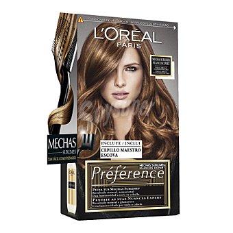 Recital Preference L'Oréal Paris Mechas Sublimes para cabello castaño oscuro 1 ud