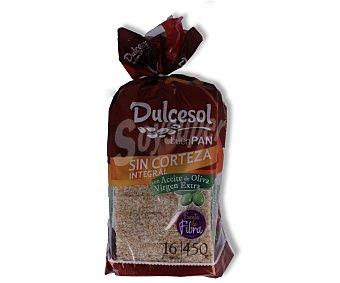 Dulcesol Pan de molde integral sin corteza 450 gramos