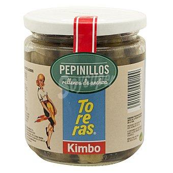 KIMBO pepinillos rellenos de anchoa frasco 150 g neto escurrido frasco 150 g neto escurrido
