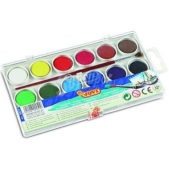 Jovi Estuche con 12 pastillas de acuarelas en colores variados +3 años Estuche con 12 pastillas