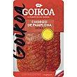 Chorizo de Pamplona extra en lonchas Envase 70 g Goikoa