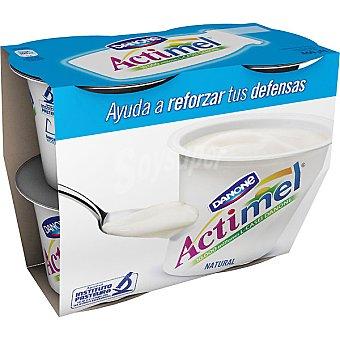 Danone Actimel Yogur natural batido con l casei Pack 4 unidades 115 g