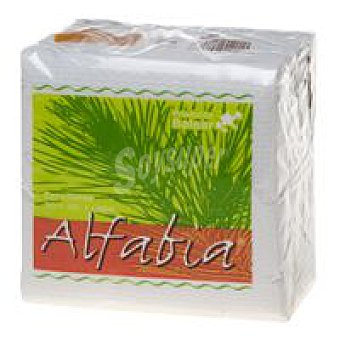 Alfabia Servilletas blancas 1 capa Paquete 80 unid