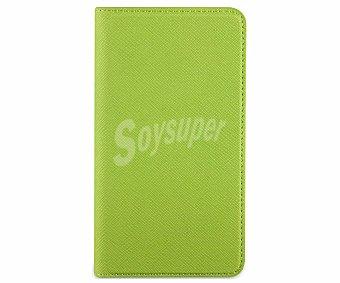 MUVIT Funda con tapa para Samsung Galaxy S5 Slim folio verde, con ranura para tarjetas