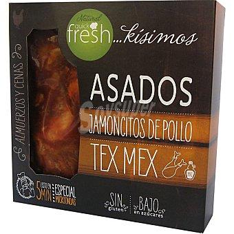 NATURAL QUICK FRESH jamoncitos de pollo asados Tex Mex sin gluten especial microondas  estuche 300 g