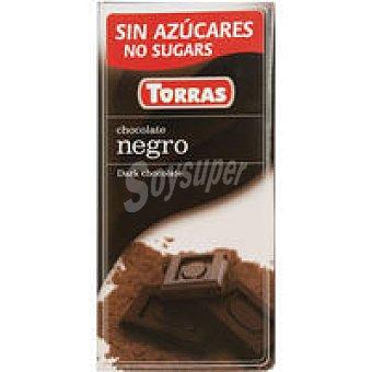 Torras Chocolate fondant s. azúcar Tableta 75 g