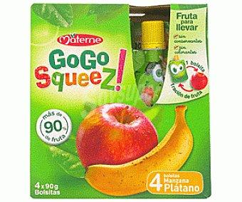 GOGO COMBI Frutas manzana/plátano 4 Unidades de 90 Gramos