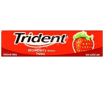 Trident Chicles sabor fresa 13,3 Gramos