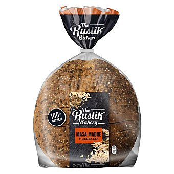 The Rustik Bakery Pan 100% natural de masa madre y cereales Paquete 550 g