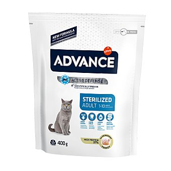 Advance sterilized Pienso para gatos adultos esterilizados pavo y cebada 400 g